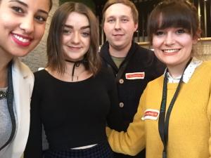 Maisie Williams und die hFMA Netzreporter