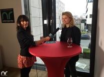 Netzreporterin Barbara vor dem Interview mit Annette Fier.