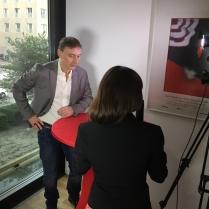 Netzreporterin Barbara im Interview mit Werner Daehn. Einer der deutschen Schauspieler, die auch in Hollywood erfolgreich sind.